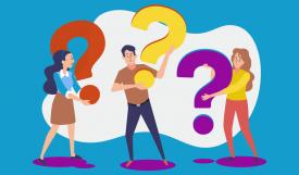 Personen Gruppe mit Fragezeichen | CASHFLOW KARONA